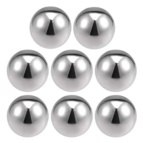 uxcell 50mm Dia 304 Stainless Steel Hollow Cap Ball Spheres for Handrail Stair Newel Post 8pcs