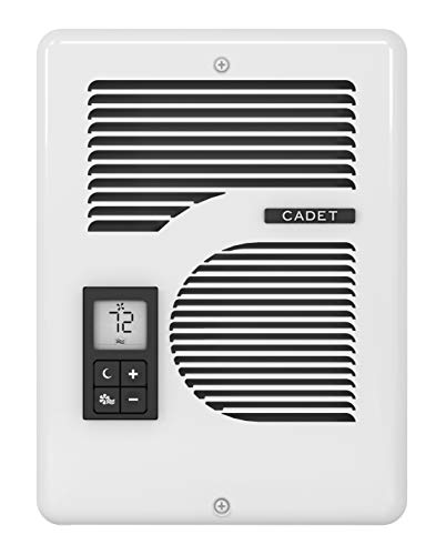 Cadet Energy Plus Electric Wall Heater with Thermostat (Model: CEC163TW), 120/208/240V, 1000/1500/1600W, White
