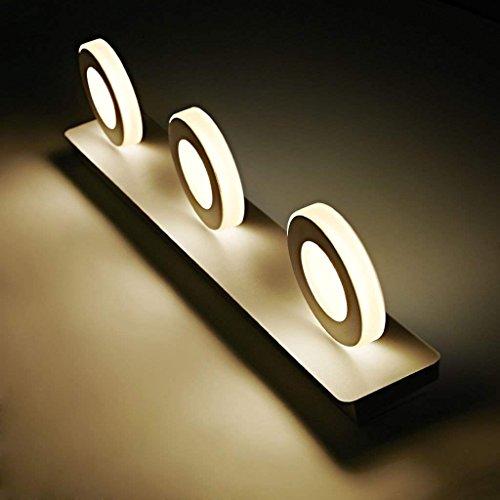 JBP Max spiegellamp, badkamerlamp, led-spiegellamp, schijnwerper, moderne badkamer, spiegelkast, wandlamp, wit, rond
