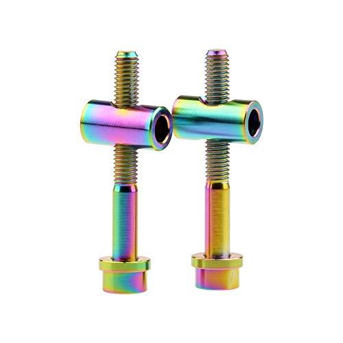 Ruifu M5 - Tornillos de Titanio para tija de sillín de Bicicleta (2 Unidades, 40 mm), Arco Iris