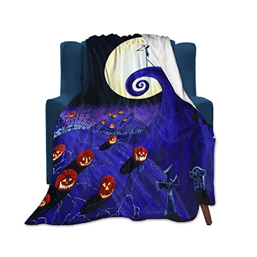 Nightmare Before Christmas Poster Blanket Super Soft Velvet Warm Fluffy Blanket Easy to Care All Season Quality 50'X40'