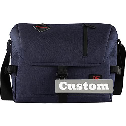 Nombre Personalizado Crossbody Messenger Bag Bolso de Hombro Canvas Travel Travel Lienzo para (Color : Blue, Size : One Size)