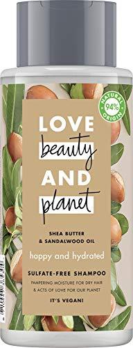 Love Beauty And Planet, Shampoing pour Cheveux Secs, Hydratation radieuse, Certifié Vegan, Flacon 400 ML