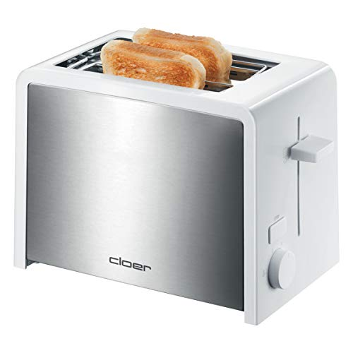 Cloer 3211 Toaster Inox 2 Tranches Contour Blanc