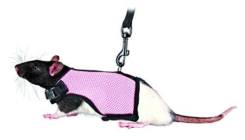 Trixie 61511 Softgeschirr mit Leine für Ratten, Nylon, 12–18 cm, 1,20 m