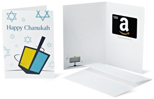 Amazon.com $200 Gift Card in a Greeting Card (Happy Chanukah Design)