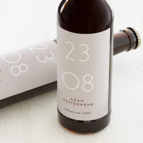 sendmoments Flaschenetiketten mit personalisiertem Aufkleber