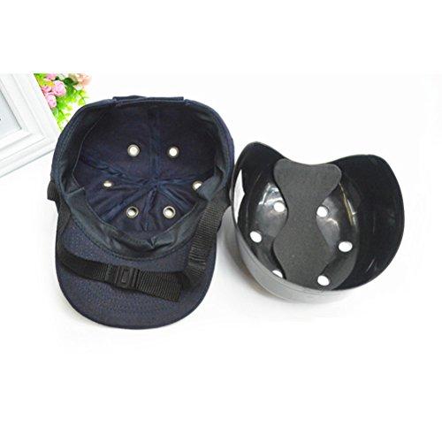 WINOMO Baseball Kopfschutz Sicherheit Baseball Caps 6-Loch Bump Cap Einsatz