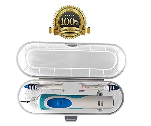 Drkao Reise-Schutzhülle für Standard Oral B elektrische Zahnbürste und Ersatzbürstenaufsätze Zahnbürste Reiseetui für Braun Oral-B Reise Schutzhülle(Transparent)
