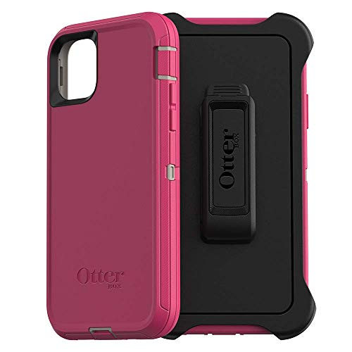 OtterBox DEFENDER SERIES SCREENLESS EDITION Case for iPhone 11 Pro Max - LOVE BUG (Raspberry Pink) (DOVE/RASPBERRY) (Renewed)