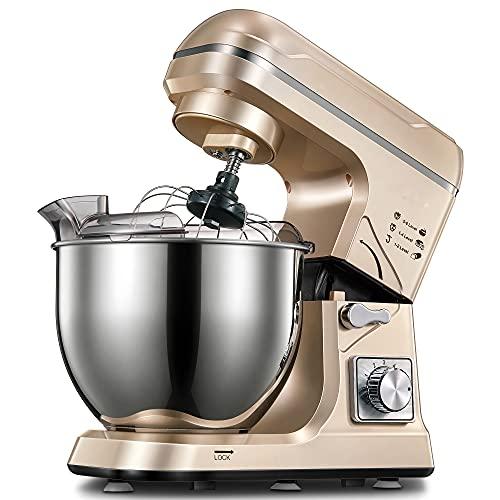 Stand Mixer, 5.5QT 6+P Speed Tilt Head Food Mixer, Kitchen...