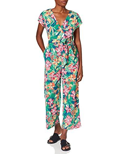 Springfield Mono Hojas Vestido, Estampado Azul, S para Mujer