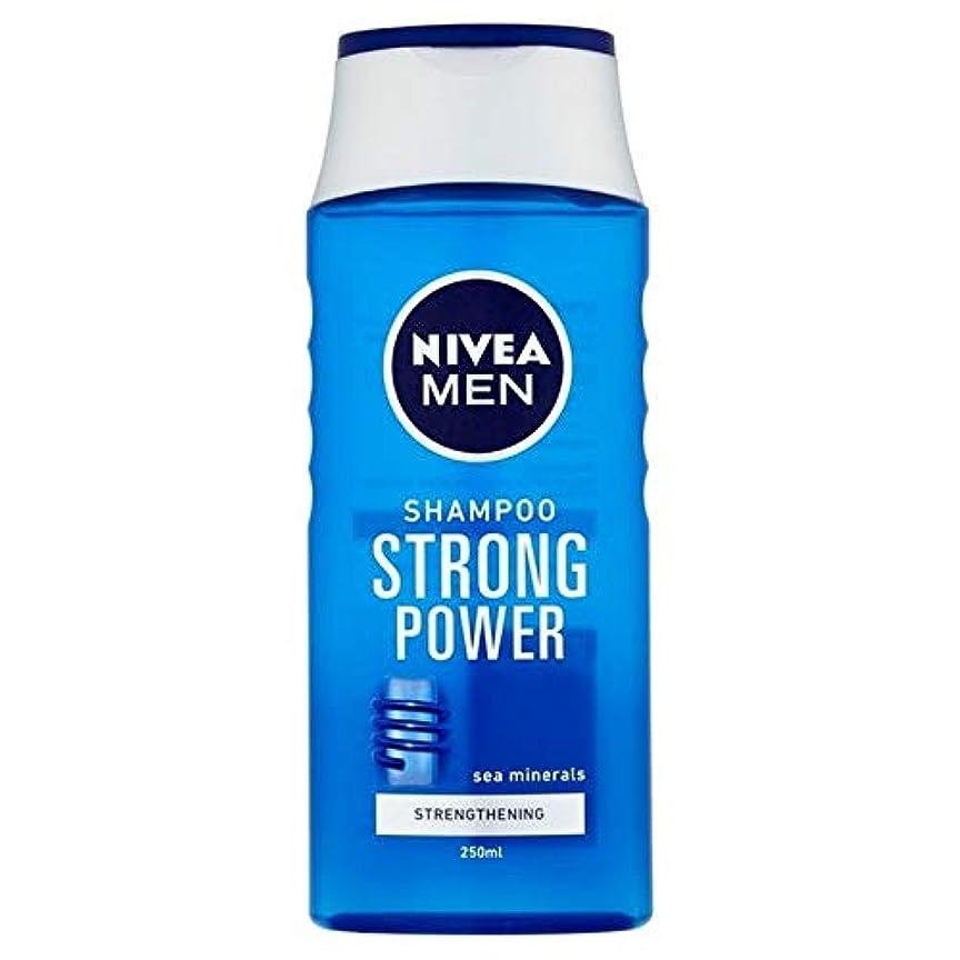 比率したい勇気[Nivea ] ニベアの男性は、強いパワー250ミリリットルシャンプー - Nivea Men Shampoo Strong Power 250ml [並行輸入品]