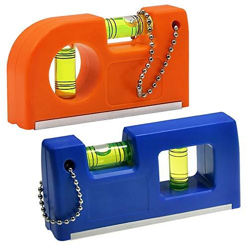 ZoneYan Wasserwaage Magnetisch, Wasserwaage, Wasserwaage Klein, Mini Wasserwaage, Taschenwasserwaage Magnetisch, Niveau Mit Seltenerd-Magnetsystem und Gürtelclip