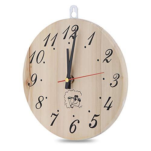 Jeffergarden 8in Sauna Clock Reloj Temporizador Decorativo para Sauna Accesorio Sauna Room Decoración del hogar