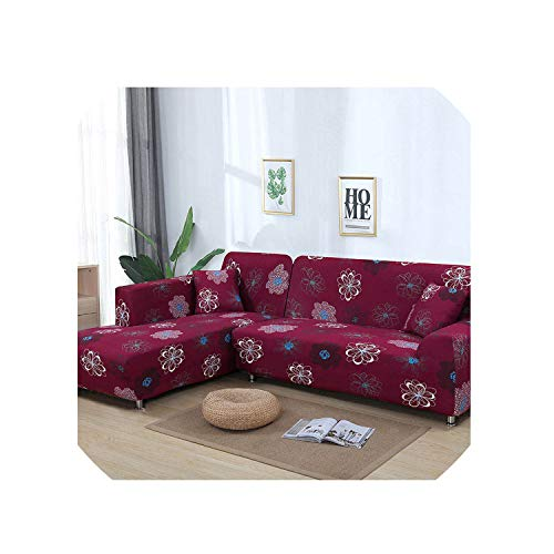 MoMo CoverGeometric Pattern 1 Piece/ 2 Pieces Sofa Cover for L Shaped Sectional Sofa Couch Cover Sofa Towel Sofa Covers for Living Room,Color 2,1Seater and 2Seater
