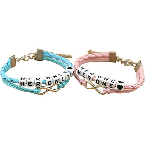 Couples Bracelets,Her Only Her One Bracelets, Infinity Love Bracelet,Heart Gay Lesbian Bracelets