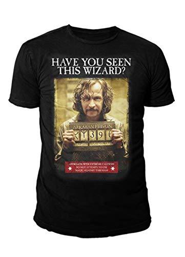 Harry Potter – Camiseta premium para hombre – Sirius Black Askaban (negro) (S-XL) Negro S