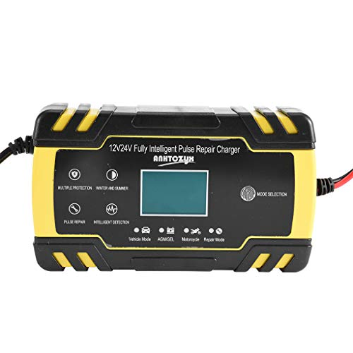 Check Out This Portable Car Battery Charger 12V/8A 24V/4A Smart Fast Charging (1 Piece, Yellow)