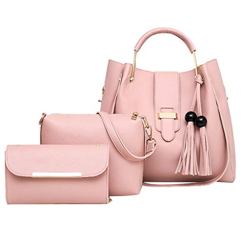 3Pcs Women Fashion Bag  Personality Creative Retro Pattern Hand Bag Shoulder Bag+Card Package