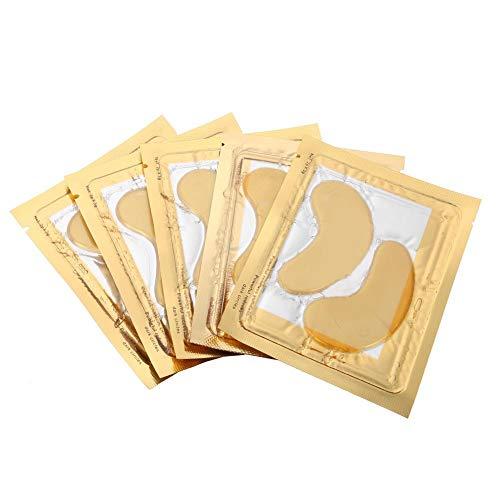 Masque pour les yeux anti-rides, Réduit les ridules et élimine les cernes, Masque pour les yeux au collagène, Or anti-rides anti-âge, Masque de soins oculaires(5pcs)