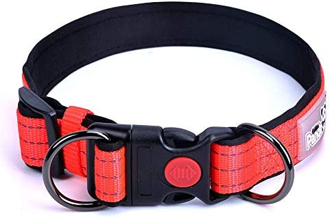 Lekesky Reflective Dog Collar with Quick Release Adjustable Buckle Safety Nylon Puppy Collar product image