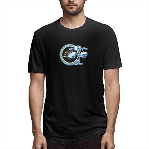 Hemd Waage Sternzeichen Sternzeichen Astrologie Horoskop Acdaf Herren Baumwolle lässig T-Shirt