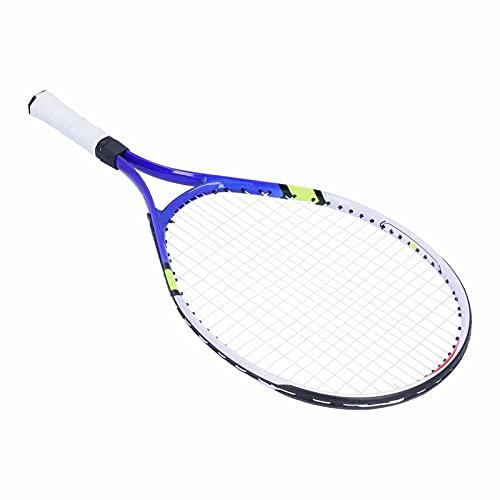 Racchetta da Tennis, Racchetta da Tennis per Bambini Racchette da Tennis Chindren per Risparmiare energia per Mantenere stabilità per Lo Strumento di Pratica Perfetto(Blu)