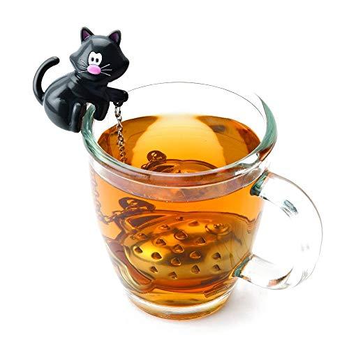 MSC International Cat Tea Infuser, Meow, Assorted Black & White