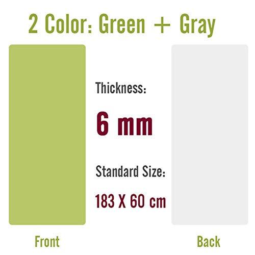 Gymnastiekmat, 183X800X8Mm Dubbelzijdig gebruik Tpe Yogamat Groot formaat antislip tapijtmat voor beginner Milieu Fitness Gymnastiekmatten, 183X60Cm 6 mm