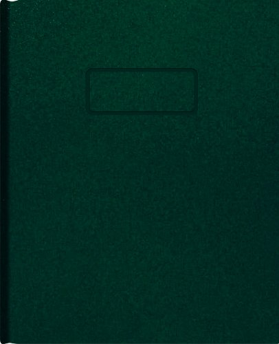 Blueline Business Notebook, Green, 9.25