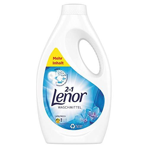 Lenor Waschmittel Flüssig, Flüssigwaschmittel, Lenor Aprilfrisch mit Duft von Frühlingsblumen, 25 Waschladungen (1.375 L)