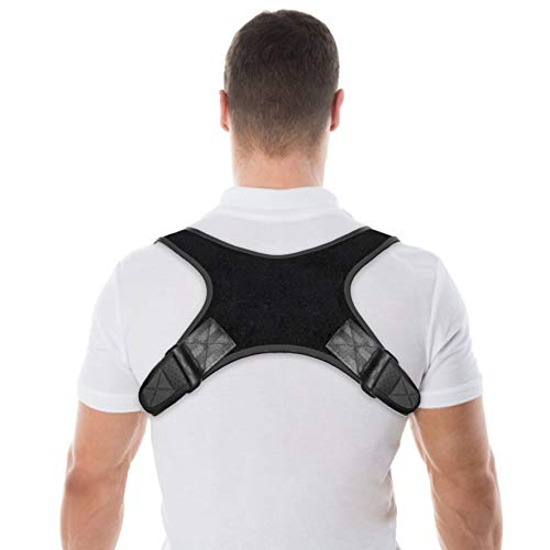 Pasapas Posture Corrector for Women and Men-Best Fully Adjustable Support Back Brace-Posture Support for Upper Back and Neck Pain Relief-FDA Approved (Black3)