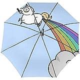おもしろウンコ 折り畳み傘 自動開閉 ワンタッチ 日傘 ワンタッチ 晴雨兼用 遮光 高強度 丈夫な8本骨 軽量 紫外線傘 UVカット 耐強風 梅雨対策 携帯用傘 おしゃれ