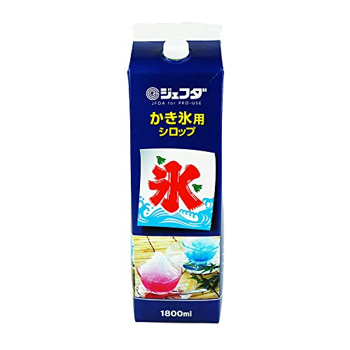 ジェフダ かき氷 シロップ 業務用 1.8L / 懐かしの屋台の味わい 徳用サイズ 氷みつ (イチゴ)
