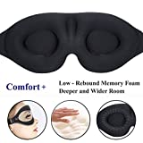 Sleep Mask for Women Men Sleeping, 3D Contoured Cup Blindfold Concave Molded Night Eye Mask Block...