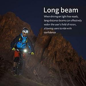 Supoggy Luz de Bicicleta/leces Bicicletas, Luz Bici Recargable USB de 5200mAh con Batería Móvil Luces Delantera de LED Inteligente Linterna Bicicleta de Carrera