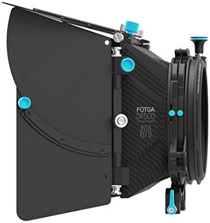 FocusFoto FOTGA DP500 Mark III Professional Metal DSLR Swing-away Matte Box Sunshade with Filter Trays for 15mm Rail Rod Rig System 5D2 5D3 A9 A7 A7R A7S II D850 GH4 GH5 BMPCC BMCC Cine Video Camera