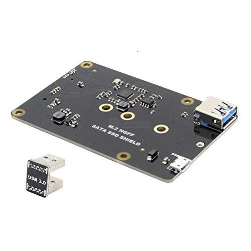 IGOSAIT DIY Kit Modul X860 M.2 NGFF 2280/2242/2260/2230 SATA SSD NAS Speicher Erweiterungsplatine mit USB 3.0 Jumper Fit für Raspberry Pi Display Zubehör