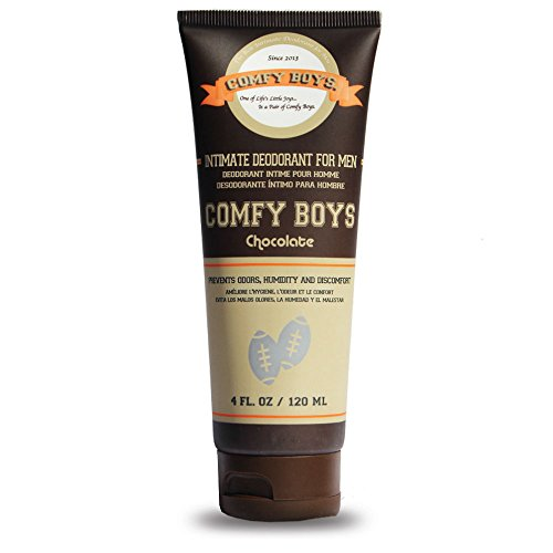 Comfy Boys Chocolate Intimate Deodorant for Men 4oz Daily Grooming Routine Companion