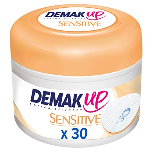 Demak'Up Sensitive imprägnierte Abschminkpads (30 Wattepads)