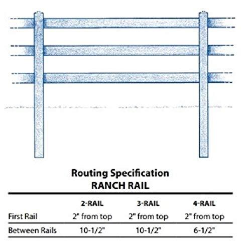 PVC (Vinyl) RANCH RAIL FENCE POSTS - 4-RAIL (4-Rail Line Post)