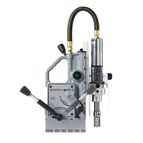 Learn More About EUROBOOR Pneumatic Drilling Machine - 7/16-2-1/16 Cuts Portable Air Drilling Mach...