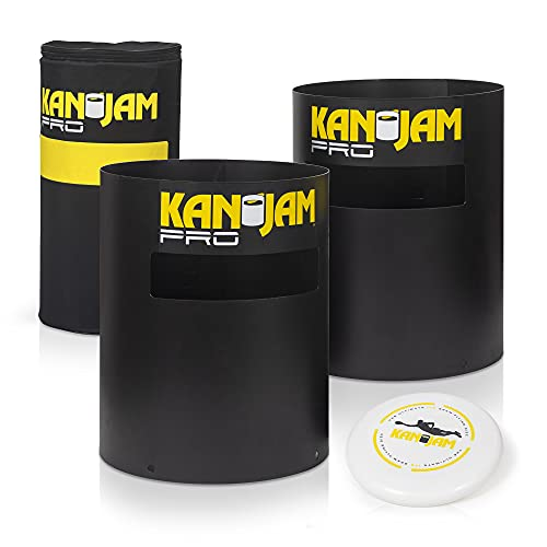 Kan Jam PRO Set Disc Throwing Game, American Made - Perfect for Outdoors, Beach, Backyard, Tailgates, Indoors and Outdoors