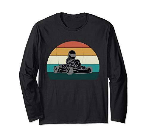 Go Kart Racer: Cooles Vintage Karting / Motor Racer Geschenk Langarmshirt