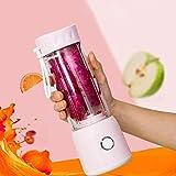 Meetforyou Mini Blender, Smoothie Blender, Mini Blender pour Smoothie, Portable Mixeur des Fruits Rechargeable avec USB, 400mL-600mL, pour Préparer des Smoothies, des Shakes, Sport, Voyage, sans BPA