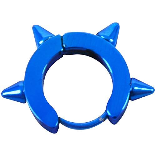 TOOGOO Pendientes De Aro GóTico Pernos De Oreja Remache Unky del Acero De Titanio De Moda De Mujer Hombre Joya Linda Azul