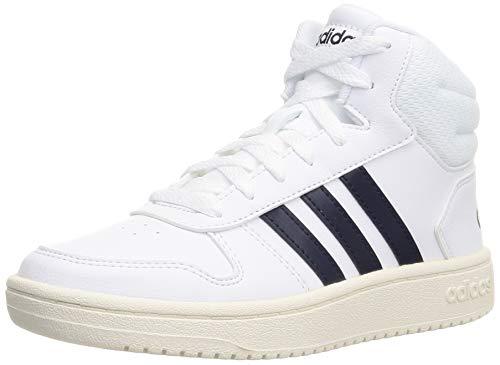 adidas Hoops Mid 2.0 K, Scarpe da Basket, Ftwr White/Legend Ink/Cloud White, 36 2/3 EU