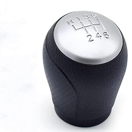 Pomo de cambio manual cromado de 6 velocidades apto para NISSAN QASHQAI NJ10 +2 apto para X-Trail 2006 2007 2008-2013 palanca de cambio de balonmano