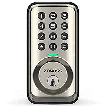 Keyless Entry Door Lock Deadbolt Zomoss Electronic Keypad Deadbolt Lock Digital Door Locks with keypads 20 User Codes Auto Lock Low Battery Indication Easy to Install and Program Satin Nickel